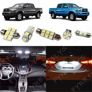 Image Is Loading 5x White LED Interior Map Dome Lights Package