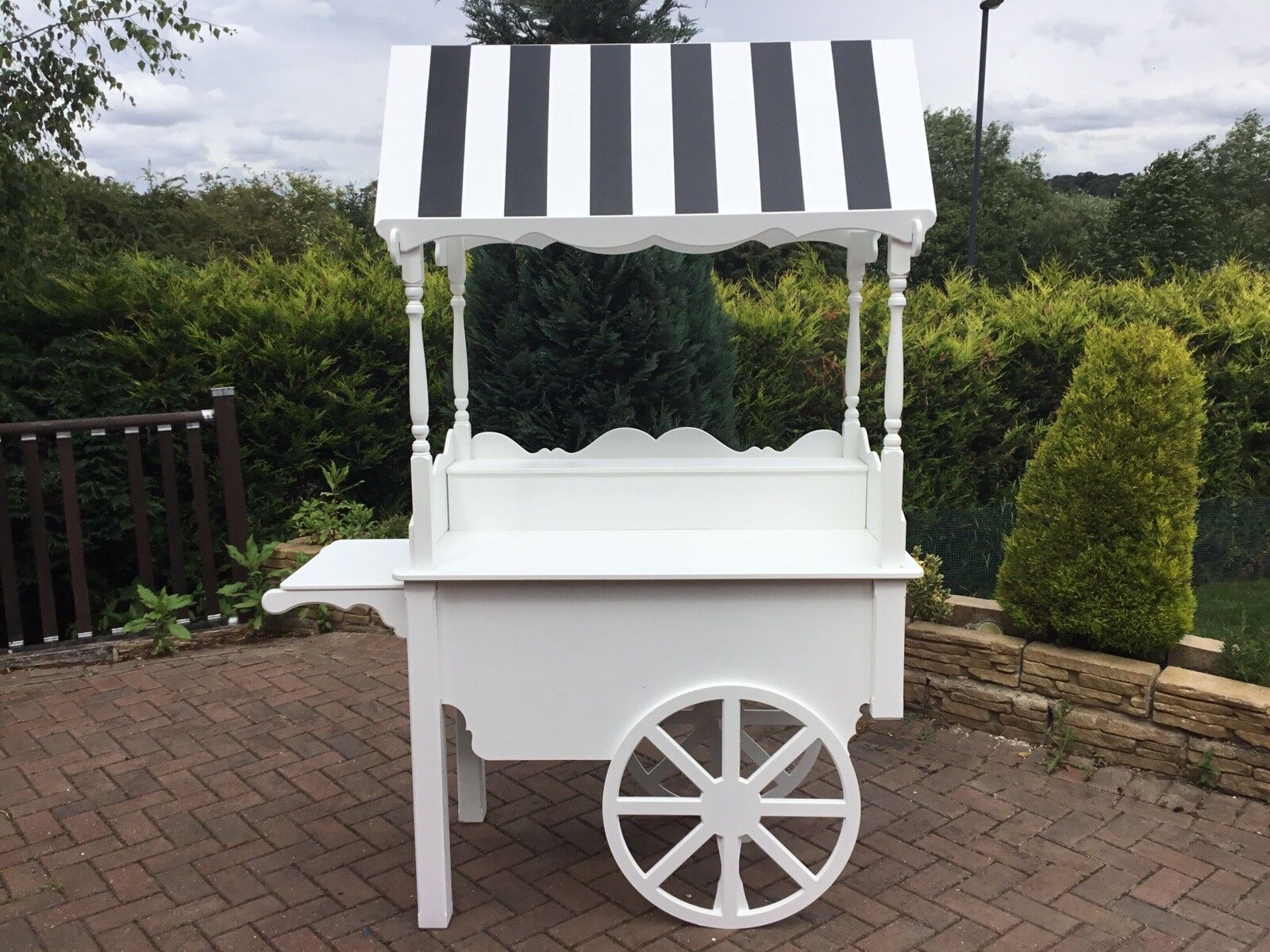 Pour la vente Wedding Candy Cart, sweet chariot, entièrement pliable, candy sweet panier