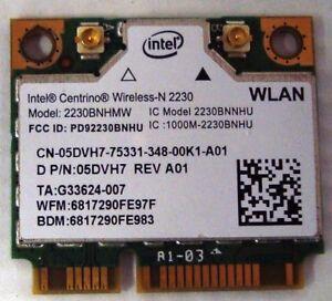 Details about Original Dell Inspiron 15R 5521 7520 Series WiFi+Bluetooth  Card 5DVH7 2230BNHMW
