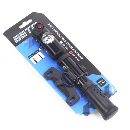 BETO MP-036N Pumper Presta Schradar FV AV Dual Valve Bike Bicycle Mini Pump