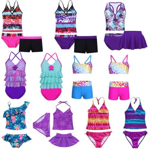 Baby Girls 2PCS Tankini Swim Suit Swimwear Swimming Costume Bathing Beach Wear