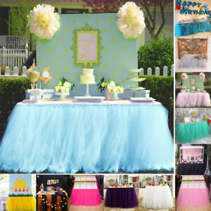 Romantische Tutu Tüll Tischdecke Langen Tisch Rock Hochzeit