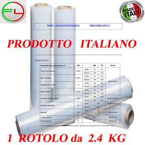 IMBALLAGGIO-FILM-ESTENSIBILE-MANUALE-TRASPARENTE-PELLICOLA-1-ROTOLO-Da-2-4-kg