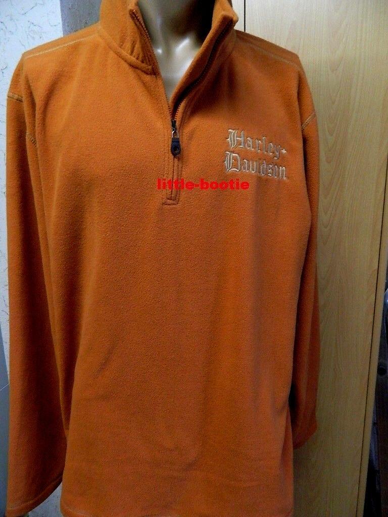 HARLEY-DAVIDSON ® Pullover in Pile Shirt Felpa Uomo Arancione per TG. XXXL 3xl