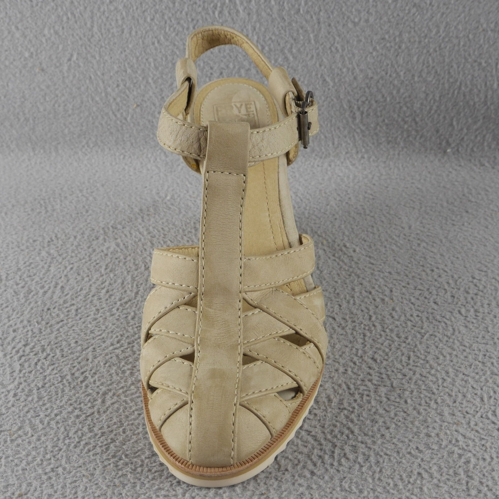 THE FRYE FRYE FRYE Maye Fisherman WOVEN BEIGE LEATHER WEDGE HEEL sandal Women's Sizes ANB b1e1ab