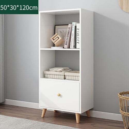 2 Cube Bookcase Bookshelf with Drawer Ladder Display Wooden Shelving Storage UK