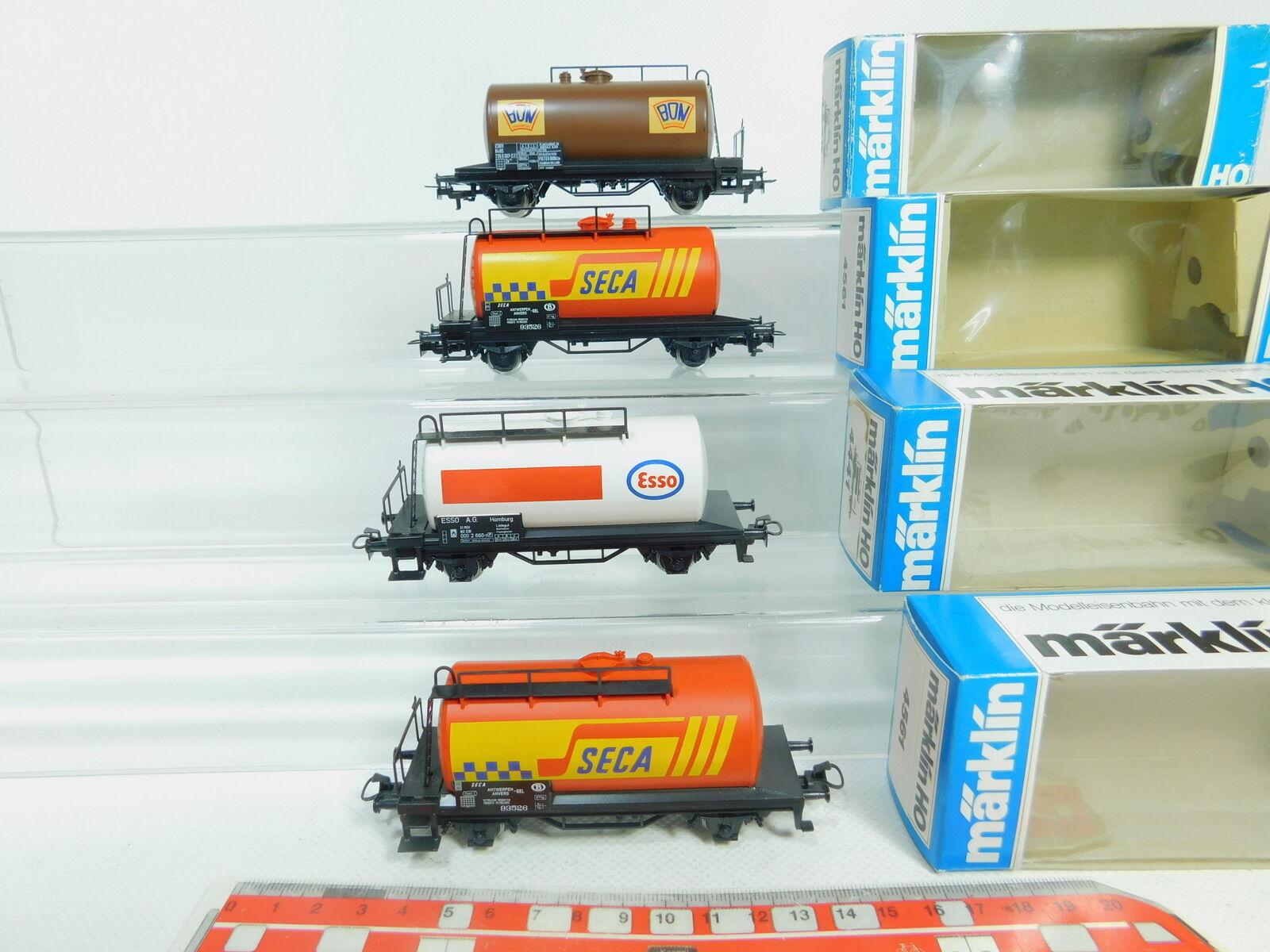 BP47-0,5 x Märklin H0 Ac Vagone Cisterna 4441,4449, 4561 Esso Seca Bon Ovp