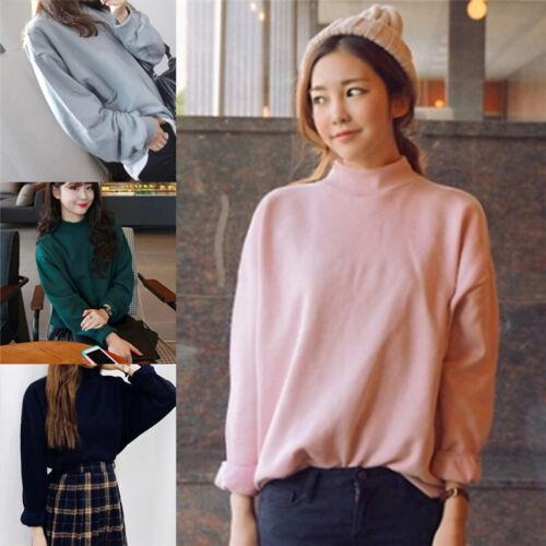 Fashion Autumn Women Hoodies Casual Sweatshirt Pullover Candy Coat Outwear TopsK