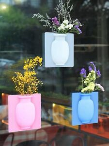 Magic-Rubber-Silicone-Sticky-Flower-Wall-Mounted-Vase-Container-Bottle-Storage
