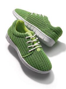 Zapatillas deportivas acolchadas verde mujer - 442011