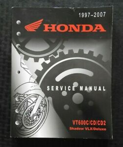 1997-2007 HONDA 600 VT600 C CD CD2 SHADOW MOTORCYCLE SERVICE