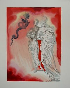 Estampe-originale-DALI-Diable-noir-Divine-comedie-DANTE-Certificat
