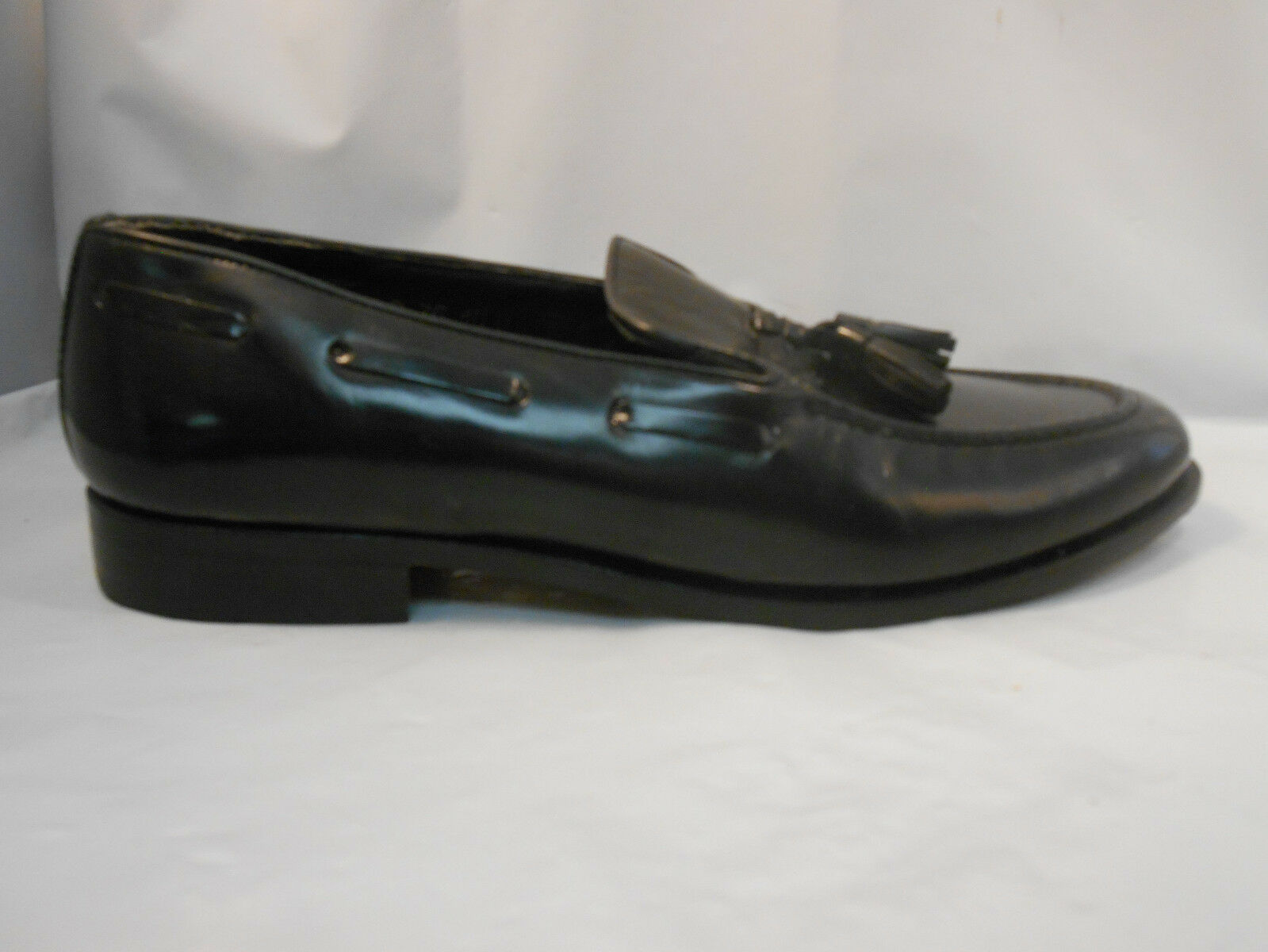 Vintage Pedwin Black Leather Tassle Loafers Slip On shoes Men's Size 10 M