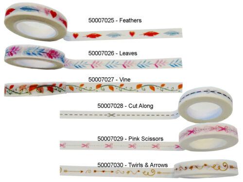 Scrapbooking Washi Tape Deko Klebeband aus japanischem Reispapier 30 Designs