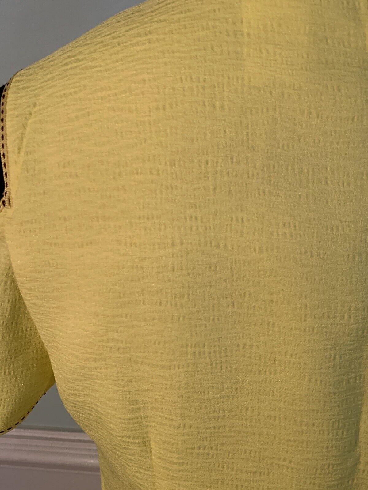 Esley bright yellow cold shoulder dress size medi… - image 6