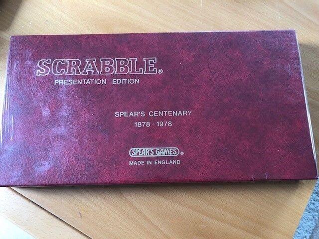 Vintage Scrabble Collectors Spear's Centenary 1878-1978 Presentation Edition.