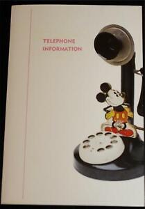 Disneyland-Hotel-Telephone-Information-Notepad-1995-Disneyana-Theme-Walt-Disney