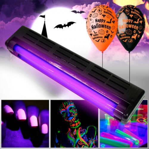 UV Ultraviolet Glow In Dark Fluorescent Tube Light 45cm|Halloween Party HPK12