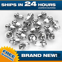 20 Chrome Toyota Factory Style Lug Nuts Fits 12x1.5 Mag Seat 20pcs