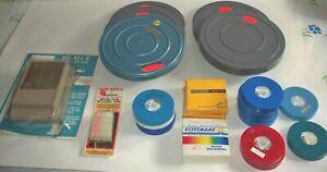 SALE-Random-8MM-Color-Movie-Film-1950-1990-Vintage-Inc-Storage-Box-amp-Splicer