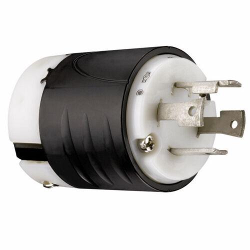 Pass /& Seymour 30A 240v Black 3-Wire Twist Turn Lock Male Generator L1430P RV