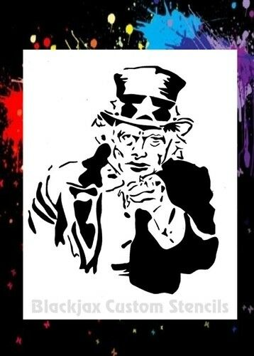 uncle sam wants you airbrush stencil template ebay