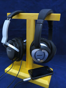 HSW2-Wooden-twin-headset-headphone-stand-bracket-for-large-size-headphones