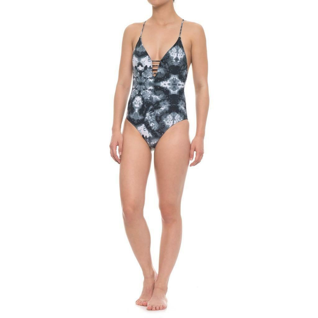 NWT Cikada Size US 6 Marble Arch Plunge One Piece Swimsuit
