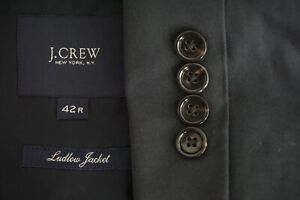 Jcrew-Ludlow-Jacket-100-Cotton-Solid-Blue-Sport-Coat-Jacket-Sz-42R