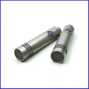 2-NEUMANN-KM84-vintage-small-diaphragm-cardioid-condenser-microphones-XLR