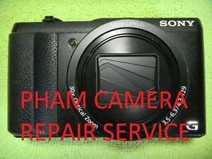 CAMERA REPAIR SERVICE FOR SONY DSC-H20 USING GENUINE PARTS