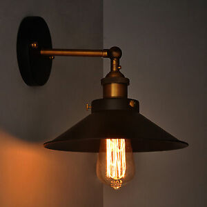 Vintage Metal Industrial Wall Light Rustic Sconce Lamp Cafe Lounge Edison Blub eBay