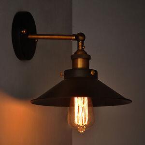 Vintage Metal Industrial Wall Light Rustic Sconce Lamp Cafe Lounge Edison Blub eBay