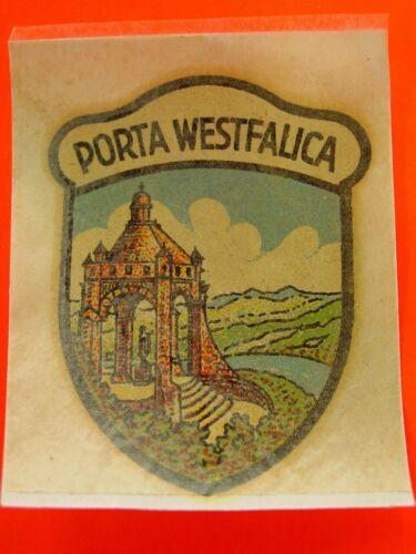 "Schiebebild wasserbild Autocollant Promeneurs vacances /""porta Westfalica/"" de collection"