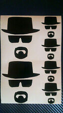 6 x Heisenberg BREAKING BAD Walter White Vinyl Decal Sticker Car Mac Ipad Mobile