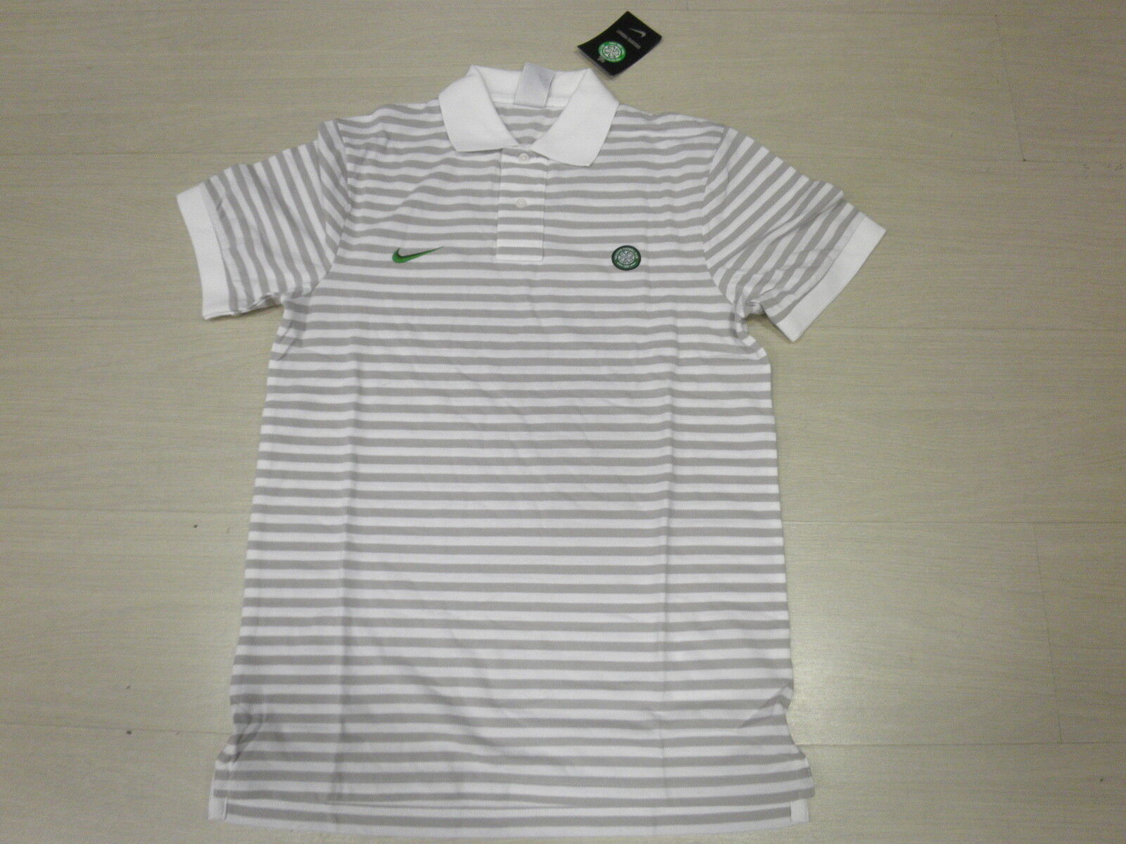 1419 TAGLIA L CELTIC GLASGOW POLO green 2011 RIGHINE COTONE