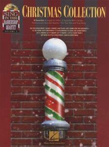 Stable Christmas Collection Chanter Avec Le Barbier Quartet Sheet Music Book/cd-afficher Le Titre D'origine Facile à RéParer