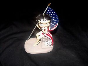 VINTAGE BABY BOOP 2002' - USA WITH AMERICAN FLAG - #6942 WESTLAND GIFTWARE