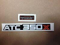 Honda 350x Fender Decals 1985 Atc350x Atc Reproductions 85 Mud Flap