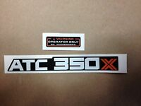 Honda 350x Fender Decals 1985 Atc350x Atc Reproductions 85 Mud Flap