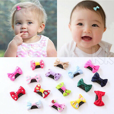 10PCS Bows Snaps Hair Clip Girls Baby Kids Hair Accessories Alligator Clips YK
