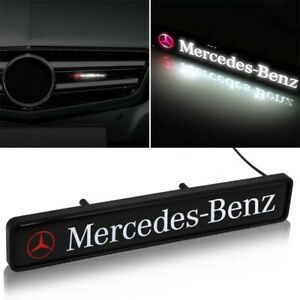 MERCEDES-BENZ-Front-Grille-Badge-Led-Light-Luminous-Universal-A-CLASS-C-CLASS