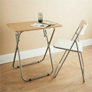 Image Is Loading Folding Beach Wood Mdf Wooden Tv Table Tea