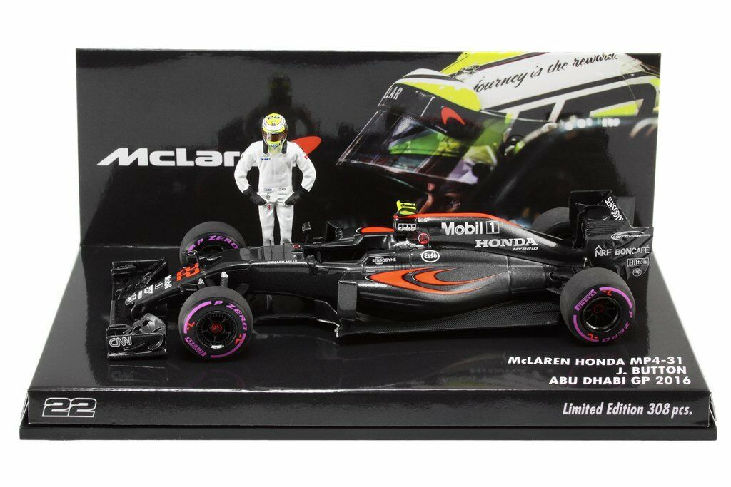 F1 1/43 MCLAREN MP4/31 HONDA BUTTON ABU DHABI 2016 MINICHAMPS 308 pcs | Outlet Online Store