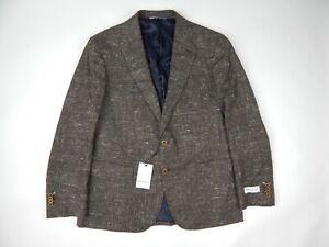Robert Graham Portrush Brown Silk Wool Cashmere Sportcoat Men's Size 44R Slim
