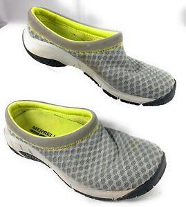 Merrell-Women-039-s-Encore-Breeze-Drizzle-Gray-Slip-On-Slide-Clog-Mule-Mesh-Shoes-7