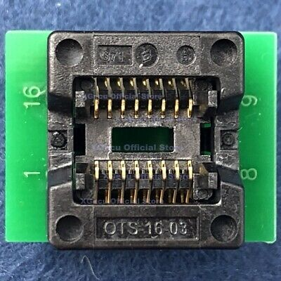 Programmer Test Clip SOIC16 SOP16 DIP16 Adapter Board IC Lead Pitch 1.27mm T*