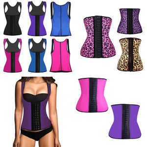 8615b92fc35ad Image is loading Women-Latex-Rubber-Waist-Trainer-Cincher-Underbust-Corset-