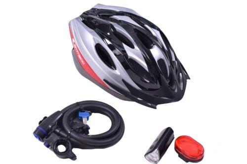 Da Uomo di Natale ideale bicyclecyclist BIKE Accessorio Starter Pack Lock CASCO Luci