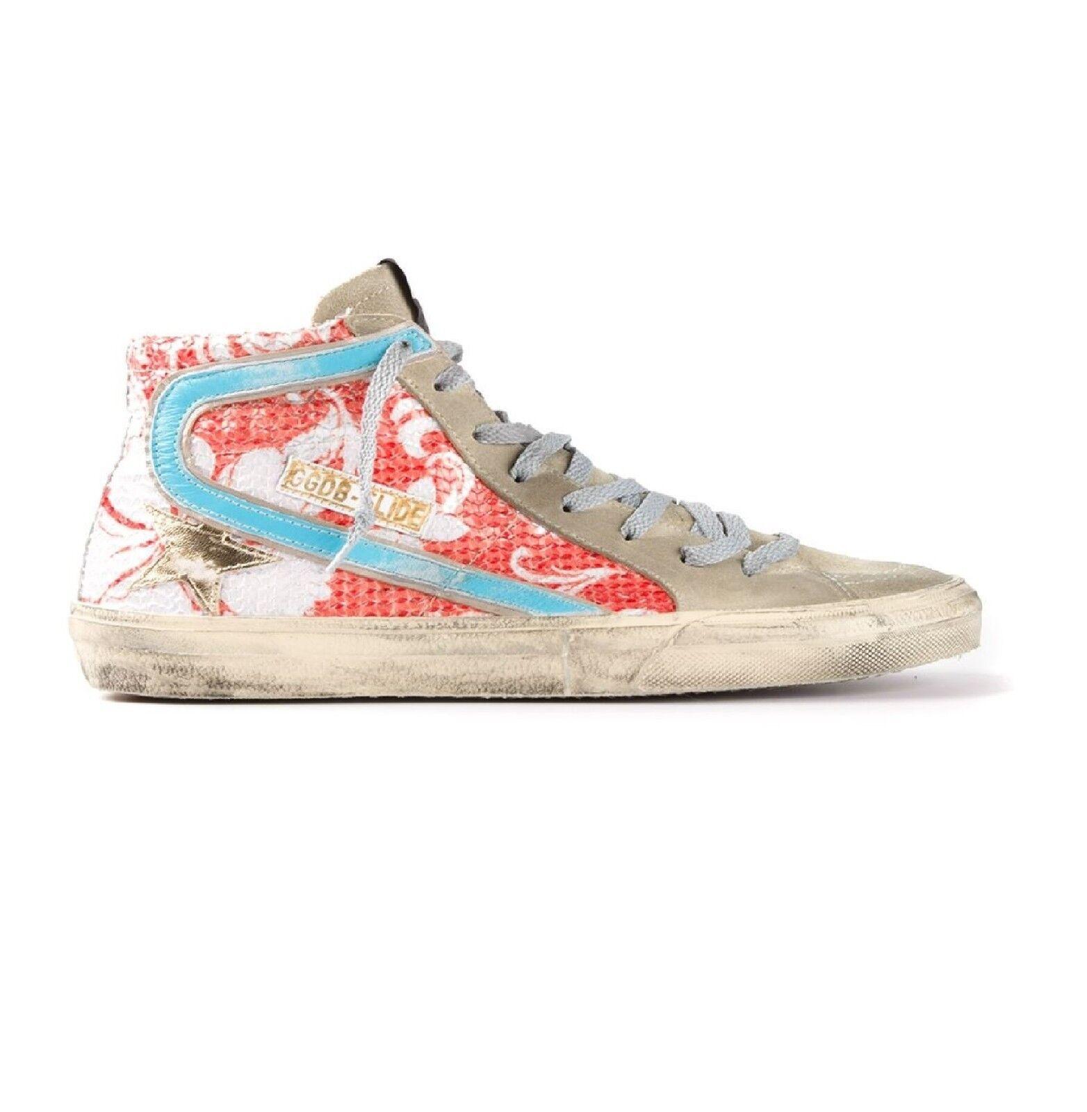 Zapatos casuales salvajes ORIGINAL GOLDEN GOOSE Sneaker GGDB Slide G24D124.H2 Corail Paillettes 35 *NEUF*